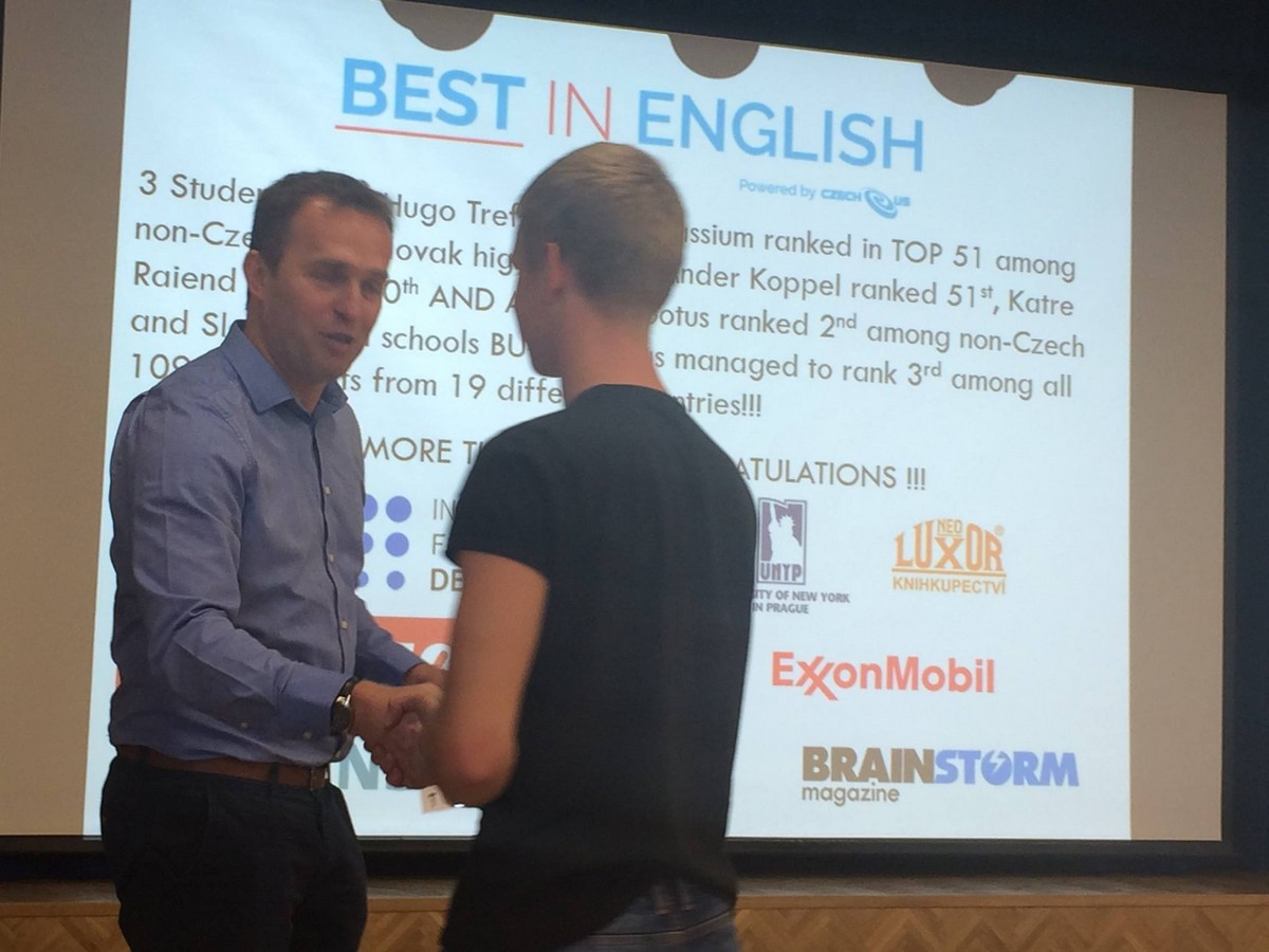 Best in English 2015/2015 - úspěšný student