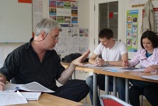 Výuková hodina v jazykové škole PRESTO