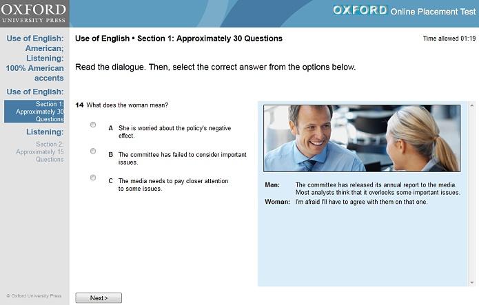 Jazykový test od Oxford University Press jsme si sami vyzkoušeli a o jeho kvalitě nemůže být pochyb