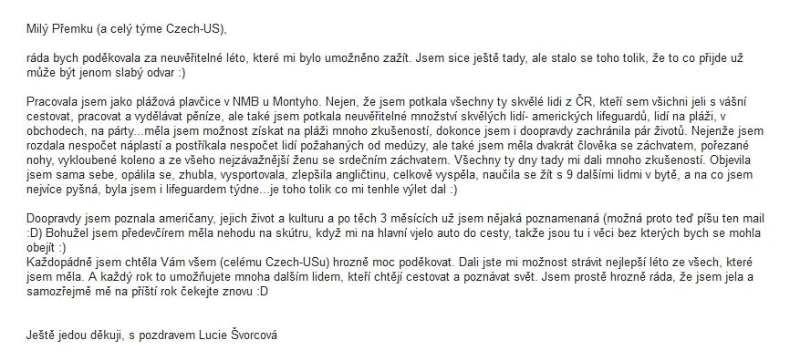 reference od Lucie Švorcové