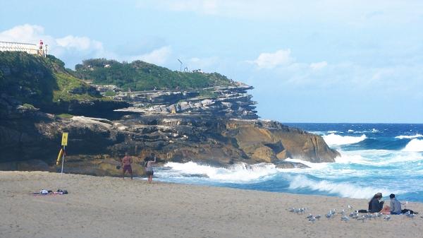 Beach na pláži v Austrálii