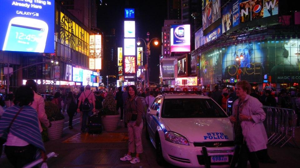 Martina na Times Square
