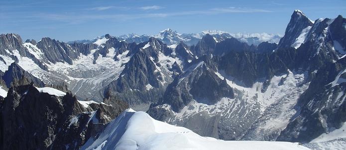 Francouzské Alpy nedaleko Chalmonix