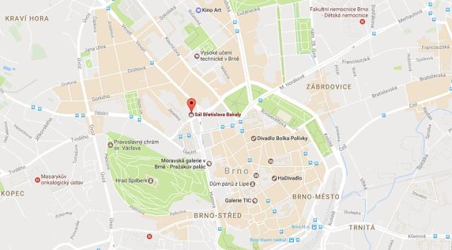 Za Hranice - Brno - Mapa