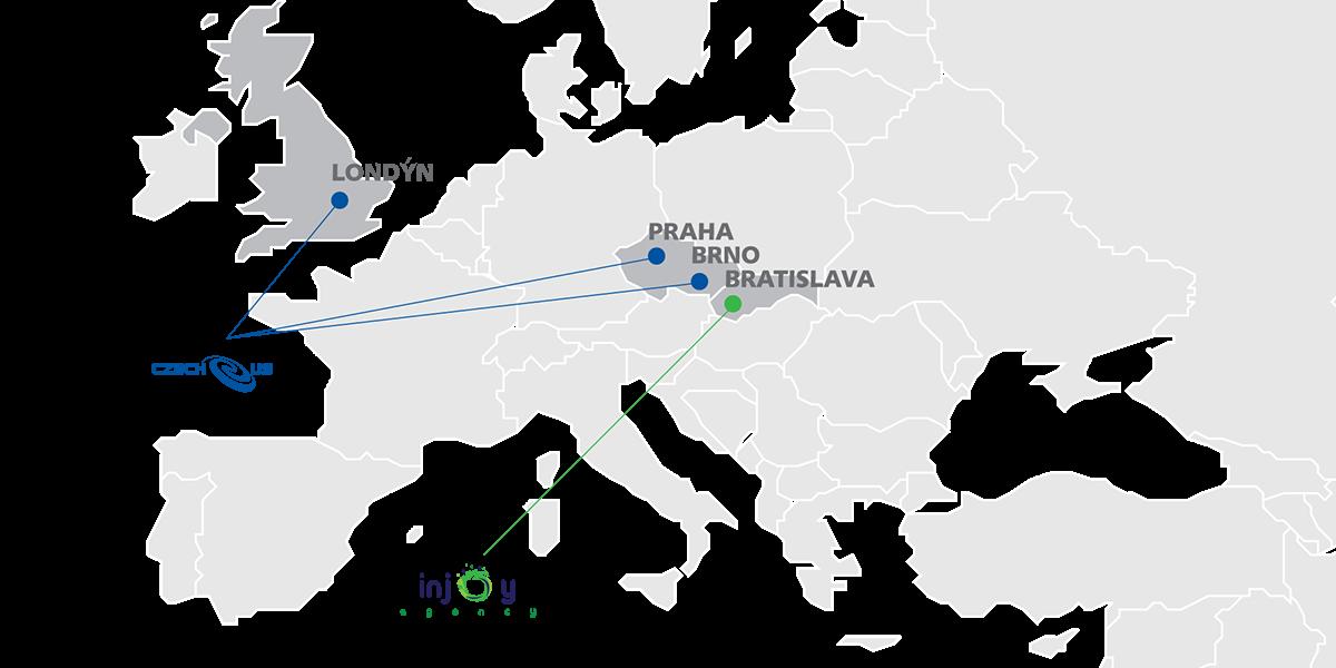 Pobočky Czech-us