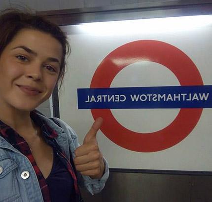 Denča v londýnském metru
