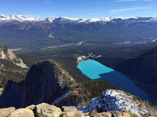 Panorama kanadského parku Banff