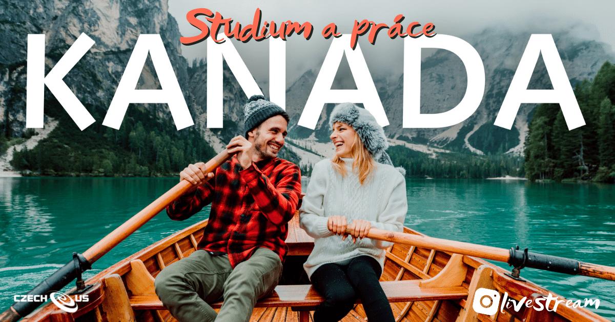 žena a muž v Kanadě na jezeře