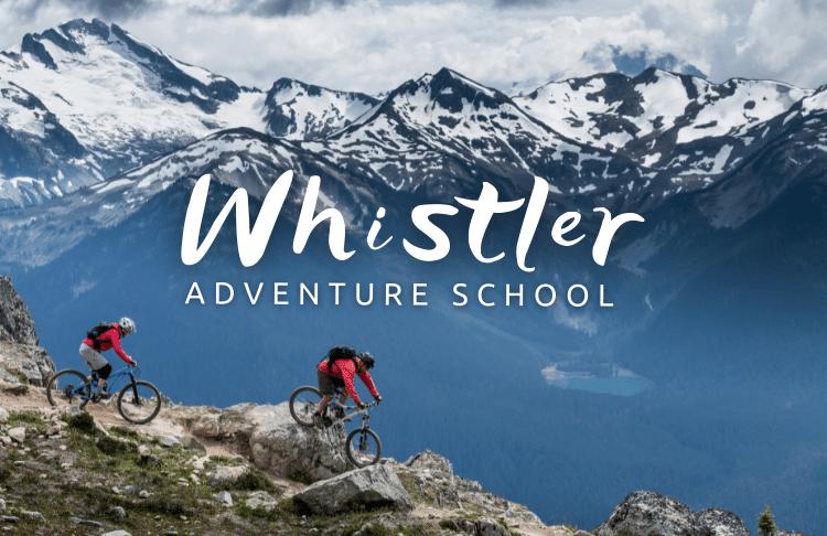cyklisti na horách v Kanadě